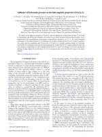Influence of hydrostatic pressure on the bulk magnetic properties of Eu2Ir2 O7
