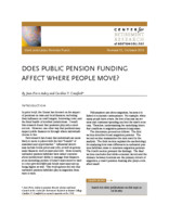 Does public pension funding affect where people move?
