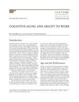 Cognitive aging and ability to work