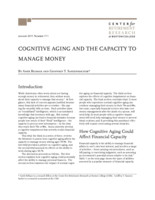 Cognitive aging and the capacity to manage money