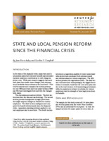 State and local pension reform since the financial crisis