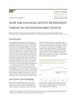 How job changes affect retirement timing by socioeconomic status
