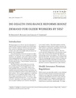 Do health insurance reforms boost demand for older workers by SES?