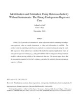 Identification and estimation using heteroscedasticity without instruments
