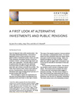 A  first look at alternative investments and public pensions