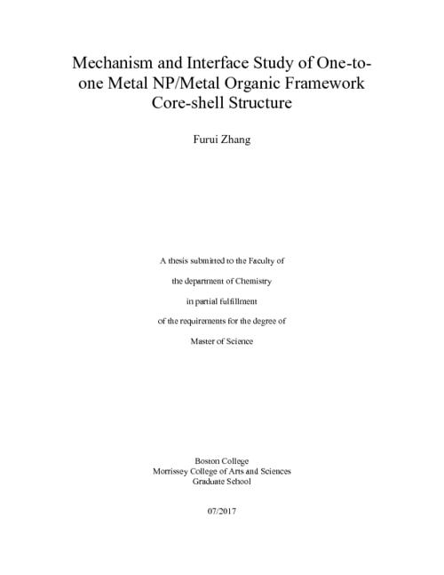 Mechanism And Interface Study Of One To One Metal Npmetal Organic