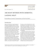 Are many retirees with dementia lacking help?