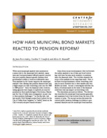 How have municipal bond markets reacted to pension reform?