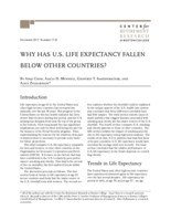 Why has U.S. life expectancy fallen below other countries?