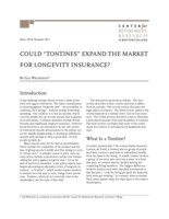 "Could ""tontines"" expand the market for longevity insurance?"