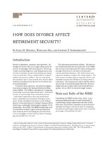 How does divorce affect retirement security?