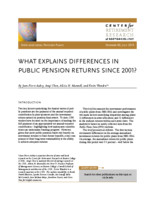 What explains differences in public pension returns since 2001?