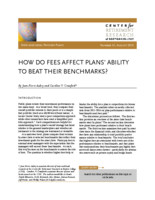 How do fees affect plans' ability to beat their benchmarks?