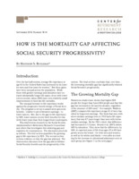How is the mortality gap affecting Social Security progressivity?