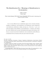 The  identification zoo - Meanings of identification in econometrics