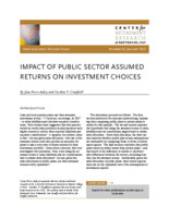 Impact of public sector assumed returns on investment choices