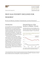 Why has poverty declined for widows?