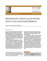 Maintaining target allocations