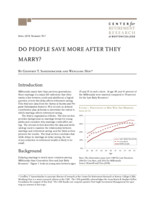 Do people save more after they marry?