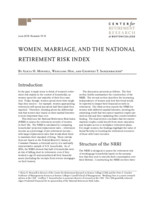 Women, marriage, and the National Retirement Risk Index