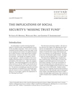 The  implications of Social Security's