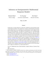 Inference on Semiparametric Multinomial Response Models
