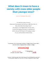 What does it mean to have a society with more older people than younger ones?