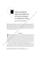 Understanding the information behaviors of doctoral students