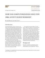 How did computerization since the 1980s affect older workers?