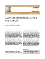 An  introduction to police and fire pensions