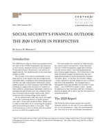 Social Security's financial outlook