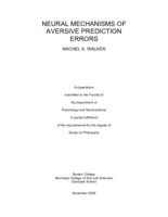 Neural Mechanisms of Aversive Prediction Errors
