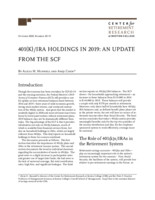 401(k)/IRA holdings in 2019