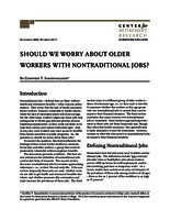 Should we worry about older workers with nontraditional jobs?