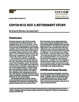 COVID-19 is not  a retirement story