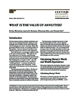 What is the value of annuities?
