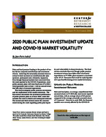 2020 public plan investment update and COVID-19 market volatility