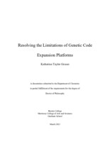 Resolving the Limitations of Genetic Code Expansion Platforms