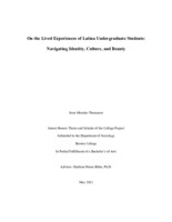 On the Lived Experiences of Latina Undergraduate Students